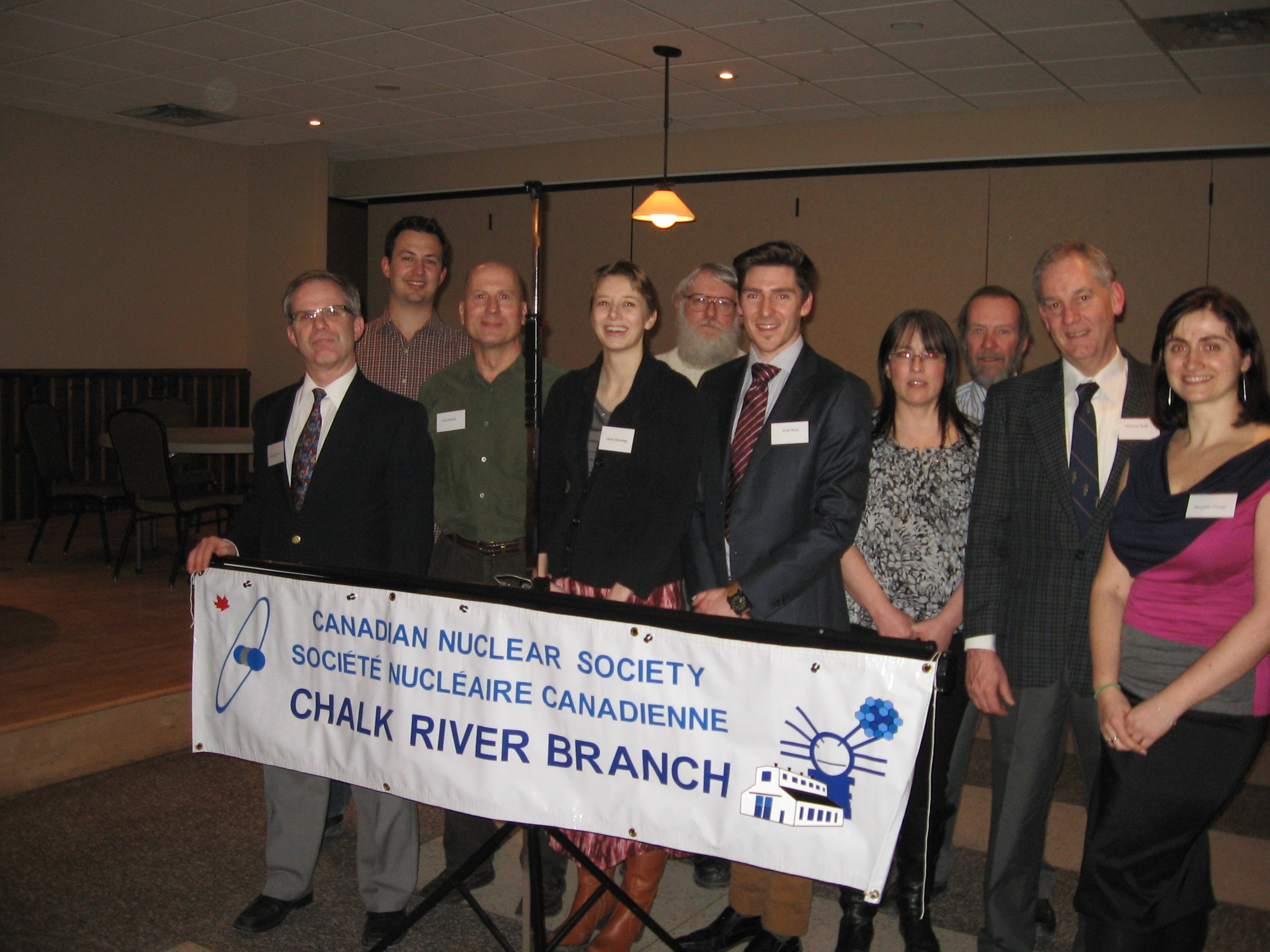 Group Photo of CNS President with the Chalk River Branch Executive