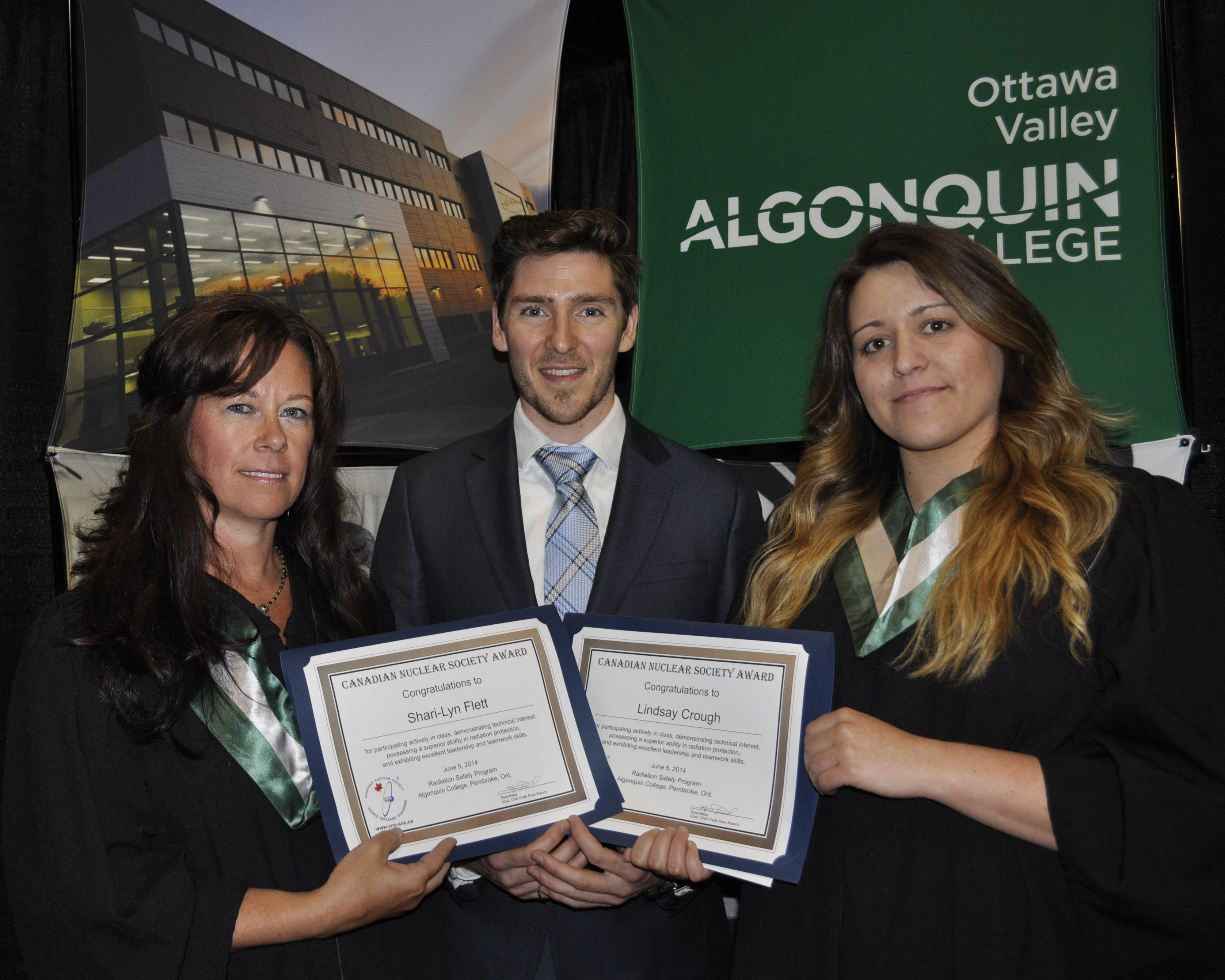 Photo of CNS CRB Algonquin College Radiation Safety Program Award